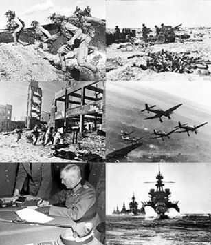 montage of wwii photos
